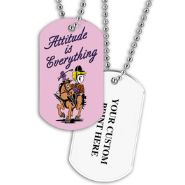Personalized Attitude Is Everything Dog Tag w/ Print on Back