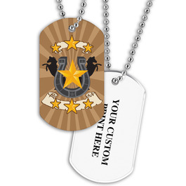 Personalized Horse Shoe Dog Tag w/ Print on Back