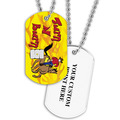 Personalized Turn and Burn Dog Tag w/ Print on Back