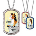 Full Color GEM Clean Pony Dog Tag