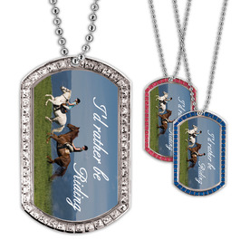 Full Color GEM Rather Be Riding Dog Tag