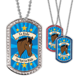 Full Color GEM To Ride Or Not To Ride Dog Tag