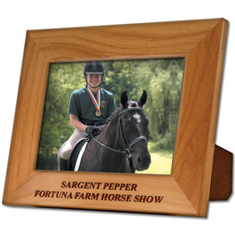 Red Alder Engraved Wooden Frame Horse Show Award