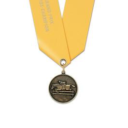 CX Horse Show Award Medal w/ Satin Neck Ribbon