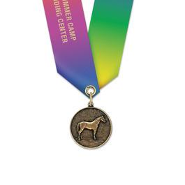 CX Horse Show Award Medal w/ Specialty Satin Neck Ribbon