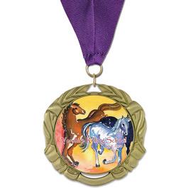 XBX Horse Show Award Medal w/ Grosgrain Neck Ribbon