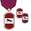 GEM Tag Horse Show Award Medal w/ Satin Neck Ribbon
