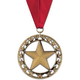 Rising Star Horse Show Award Medal w/ Grosgrain Neck Ribbon