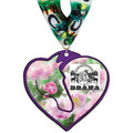 Custom Shape Birchwood Horse Show Award Medal w/ Millennium Neck Ribbon
