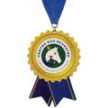 Birchwood Stock Shape Horse Show Award Medal w/ Grosgrain Neck Ribbon