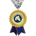 Birchwood Stock Shape Horse Show Award Medal w/ Millennium Neck Ribbon