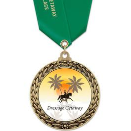 GFL Horse Show Award Medal w/ Satin Neck Ribbon