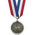 HBX Horse Show Award Medal w/ Specialty Satin Neck Ribbon