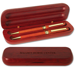 Rosewood Pen and Pencil Set Horse Show Award