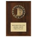 Rising Star Horse Show Medal Award Plaque - Cherry Finish