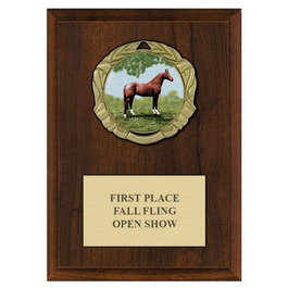 XBX Horse Show Medal Award Plaque - Cherry Finish