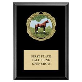 XBX Horse Show Medal Award Plaque - Black Finish