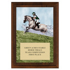 Cross Country Horse Show Award Plaque - Cherry Finish