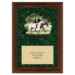 Enjoy the Ride Horse Show Award Plaque - Cherry Finish