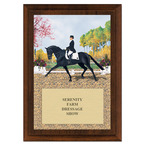 Extended Trot Horse Show Award Plaque - Cherry Finish
