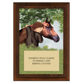 Horse & Child Award Plaque - Cherry Finish