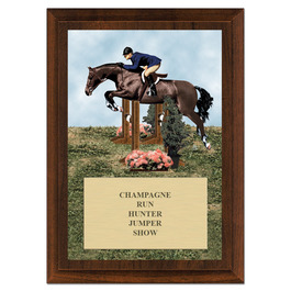 Hunter/Hunt Seat Equitation Horse Show Award Plaque - Cherry Finish