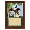 Jumper Horse Show Award Plaque - Cherry Finish