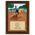 Reining Award Plaque - Cherry Finish