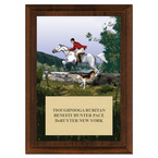 The Hunt Horse Show Award Plaque - Cherry Finish