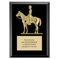 Quarter Horse w/ Rider Award Plaque - Black Finish