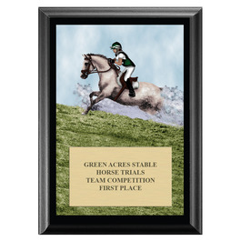 Cross Country Horse Show Award Plaque - Black