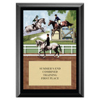 Combined Training Horse Show Award Plaque - Black