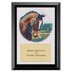 Dressage Horse Head Horse Show Award Plaque - Black