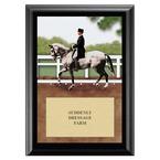 Dressage Horse Show Award Plaque - Black