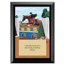 Equitation Horse Show Award Plaque - Black