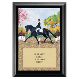 Extended Trot Horse Show Award Plaque - Black
