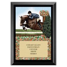 Hunter Horse Show Award Plaque - Black