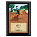 Reining Horse Show Award Plaque - Black