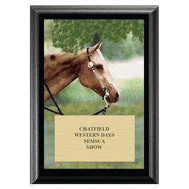 Western Horse Show Award Plaque - Black