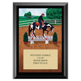 Western Trail Horse Show Award Plaque - Black