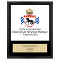 Full Color Horse Show Award Plaque - Black w/ Engraved Plate