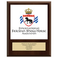 Full Color Horse Show Award Plaque - Cherry Finish w/ Engraved Plate