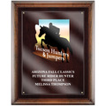 Full Color Horse Show Award Plaque - Espresso w/ Acrylic Overlay