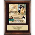 Full Color Horse Show Award Plaque - Espresso w/ Engraved Plate