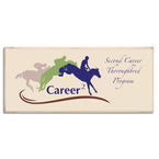 Vintage Full Color Custom Horse Show Award Plaque