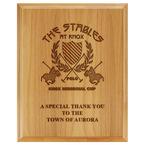 Horse Show Award Plaque - Engraved Red Alder