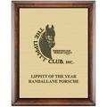 Horse Show Award Plaque - Espresso w/ Engraved Plate