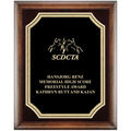 Horse Show Award Plaque - Espresso w/ Florentine Plate