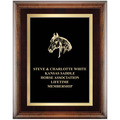 Horse Show Award Plaque - Espresso w/ Double Gold Plate