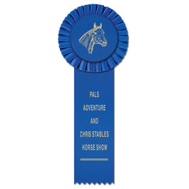 Little Rose Horse Show Rosette Award Ribbon